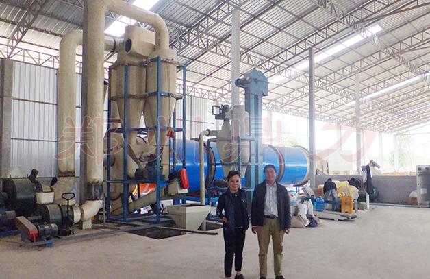 老挝啤酒糟烘干生产线二期